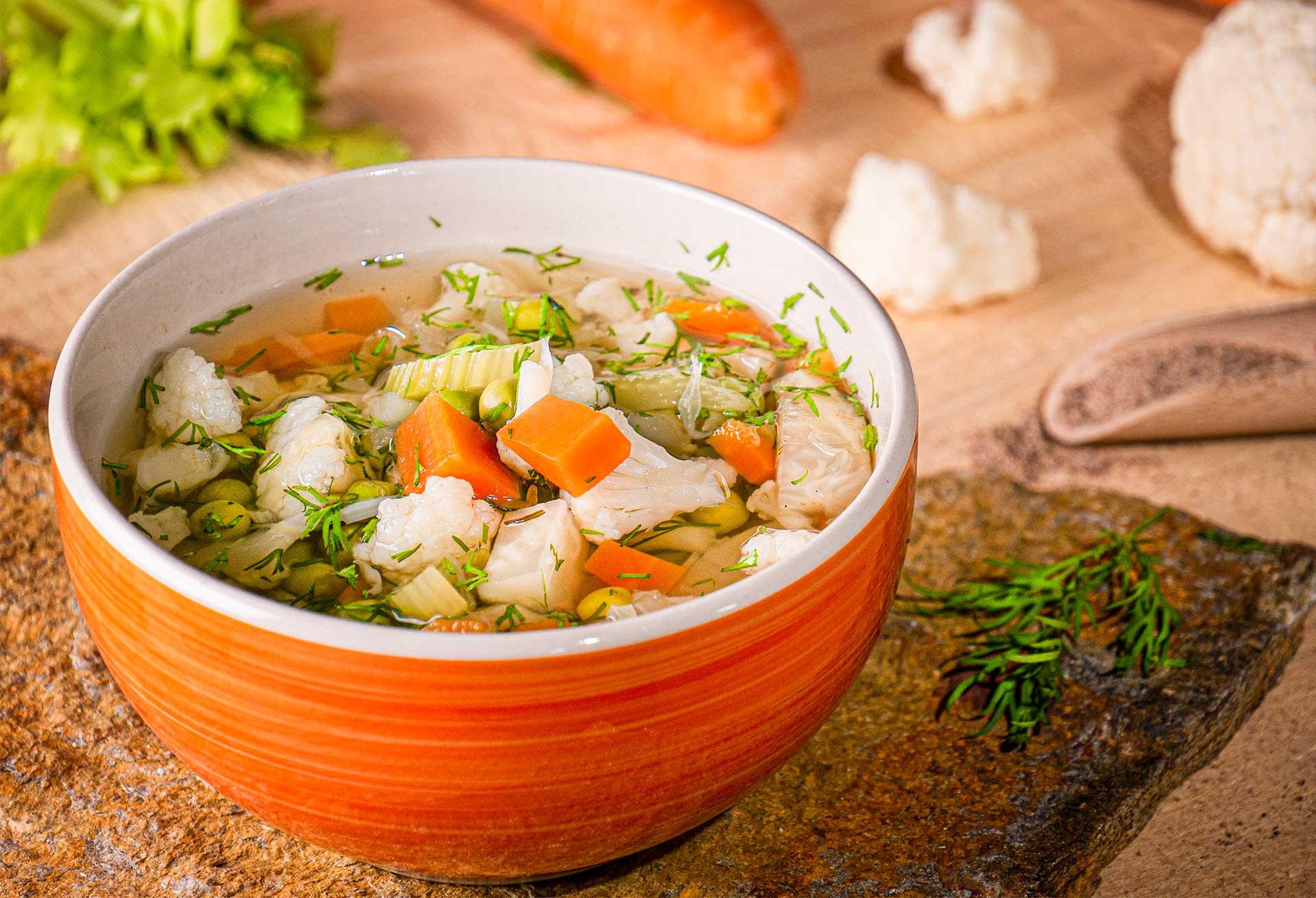 супа от грах и карфиол
