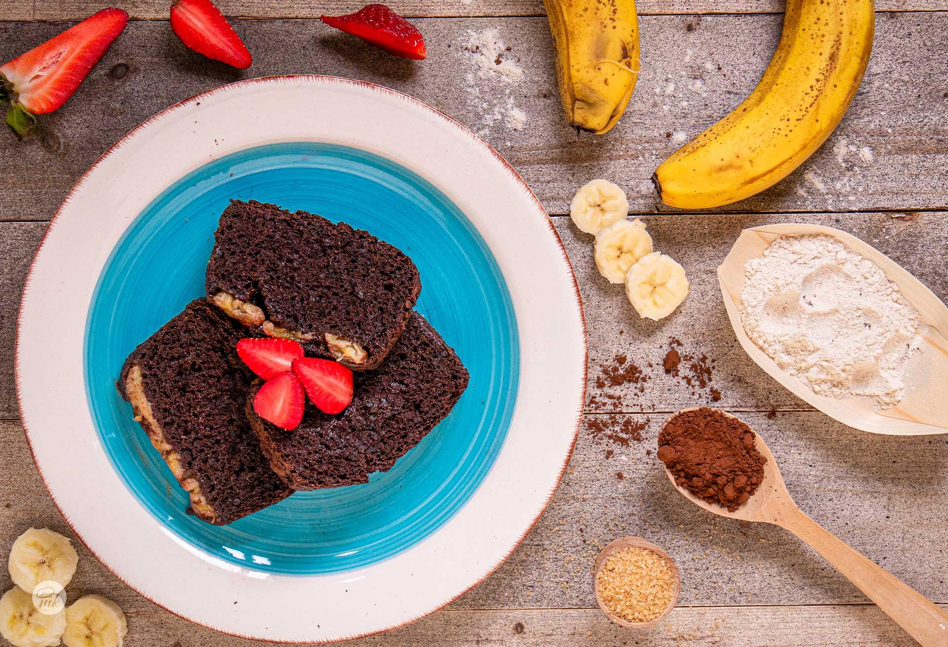 шоко кейк с банани