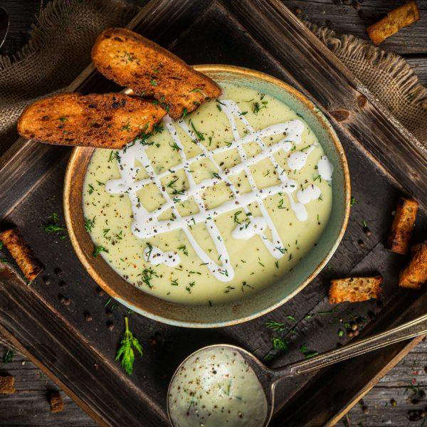 крем супа от тиквички с копър и сметана