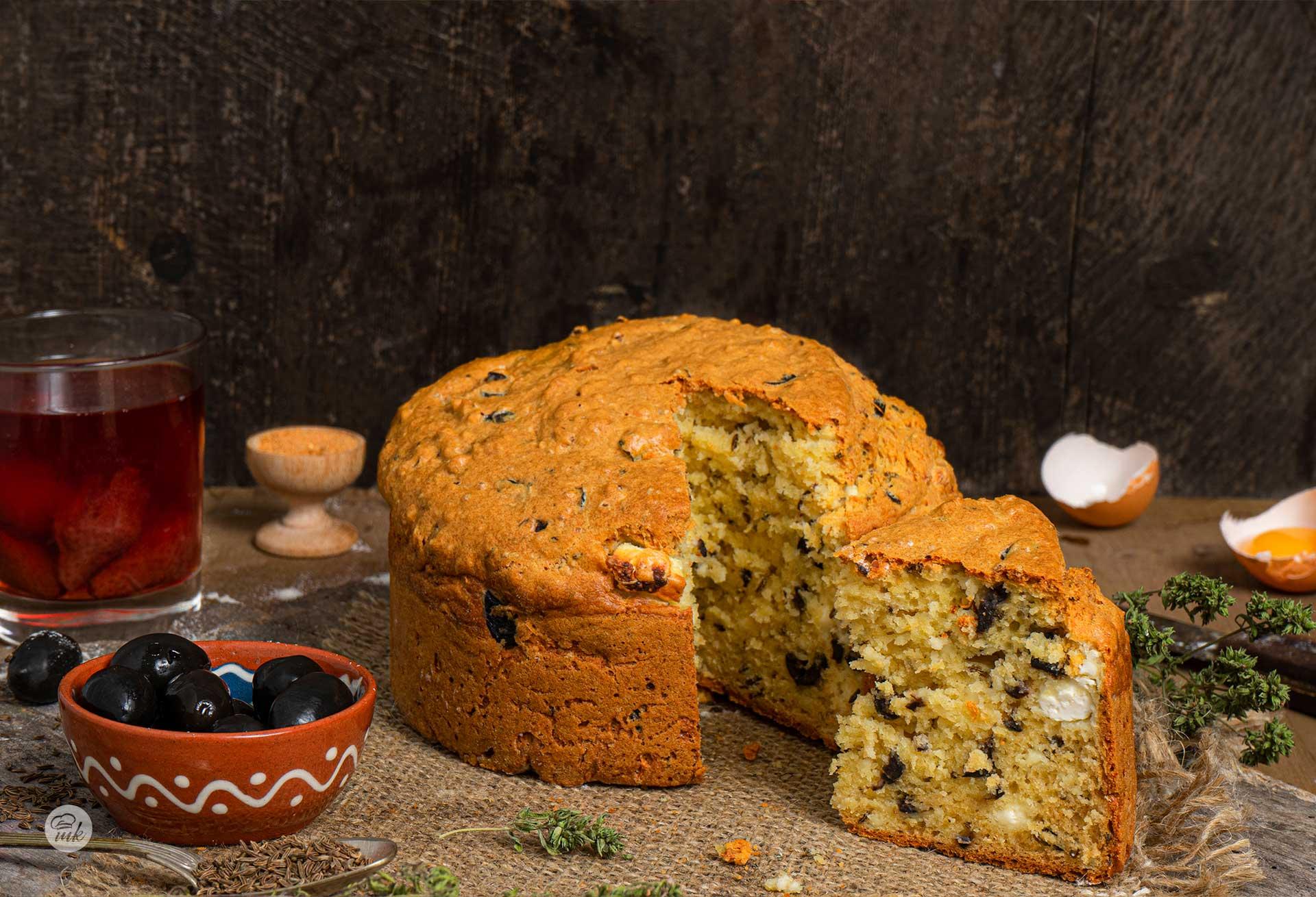 Солен кекс с маслини