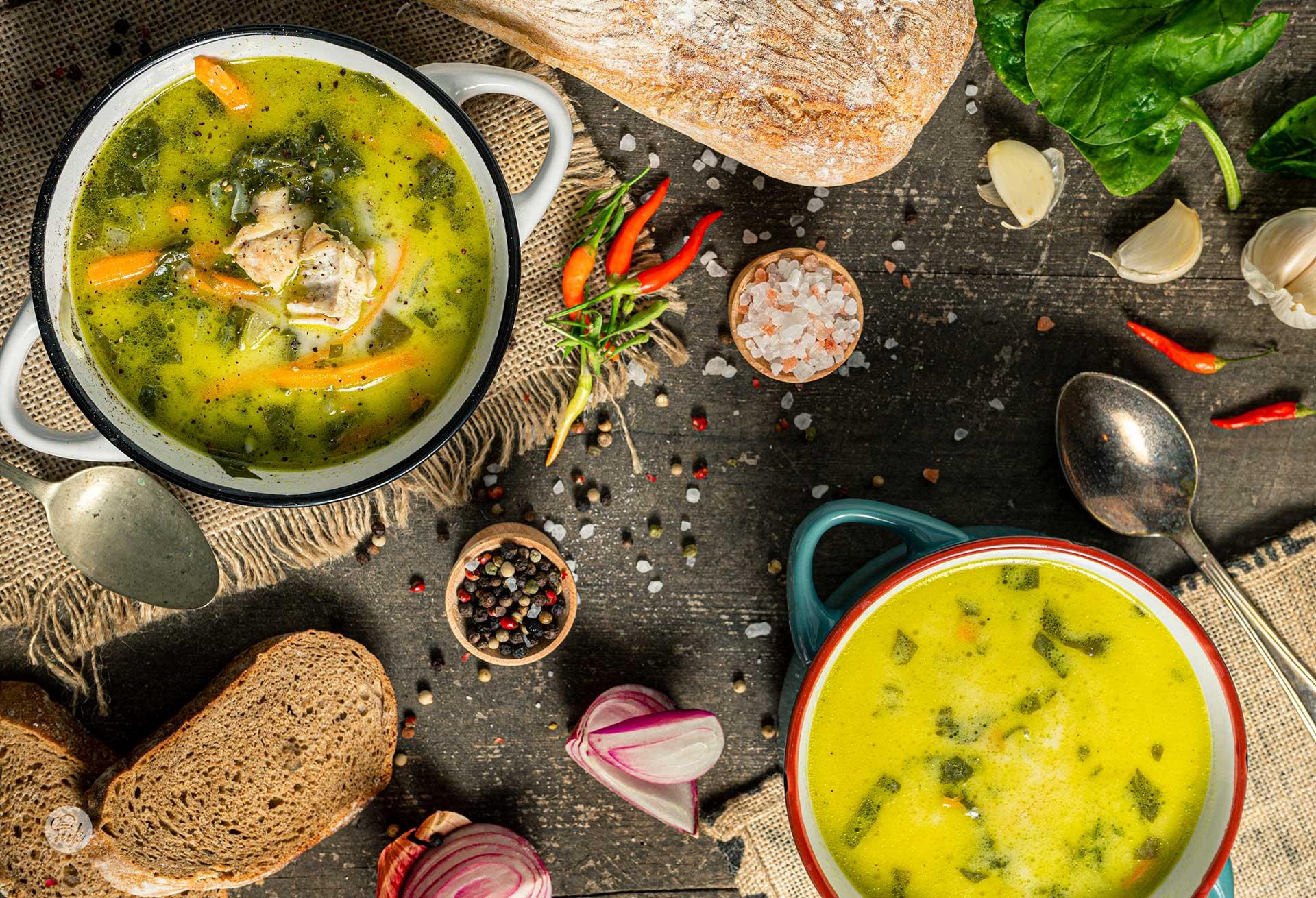 Супа от спанак и пиле