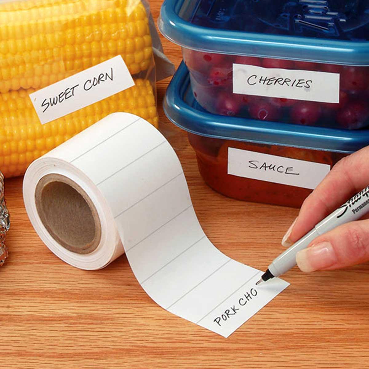 Храна с етикети за съхранение
