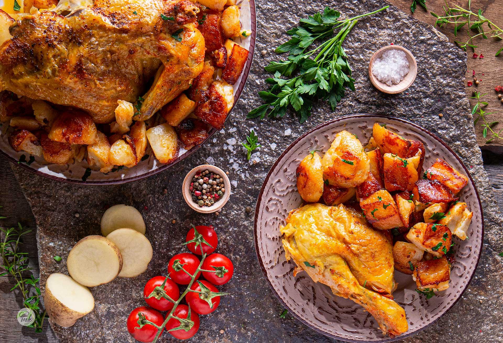 Пиле с картофи и бира