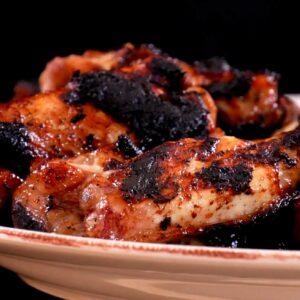 Пилешки крица, печени с боровинки