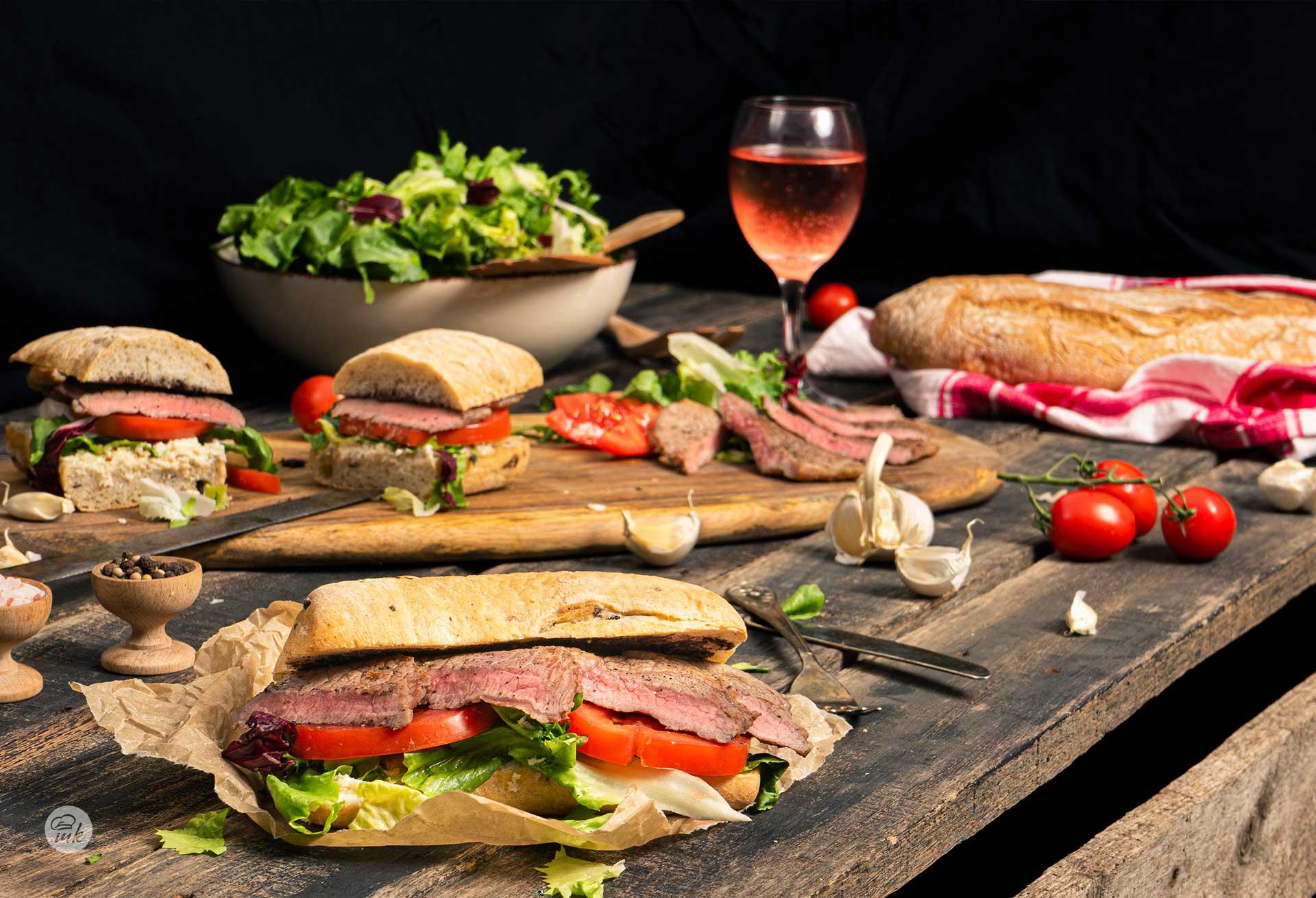 Телешки стек сандвич