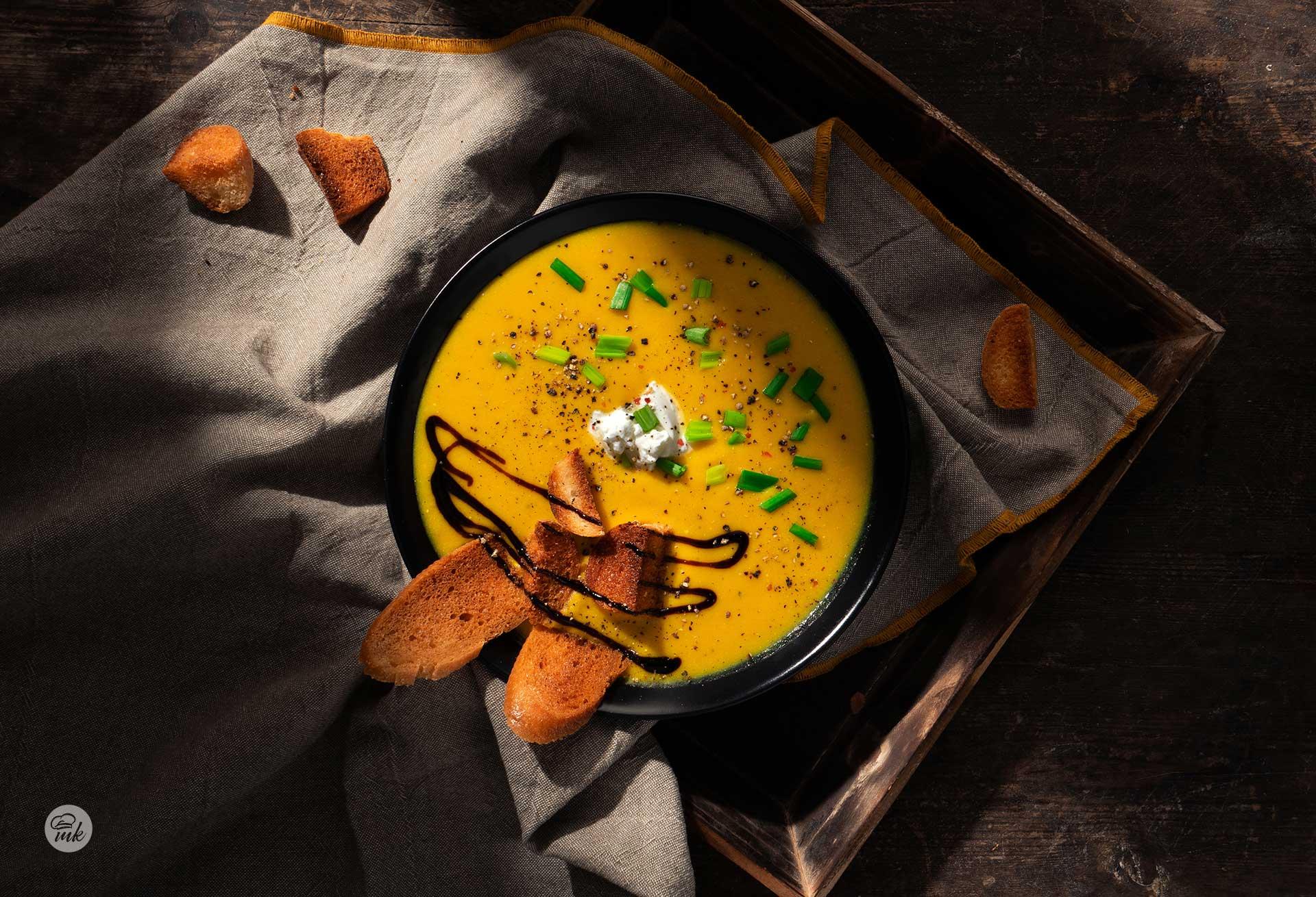 Крем супа от картофи и праз