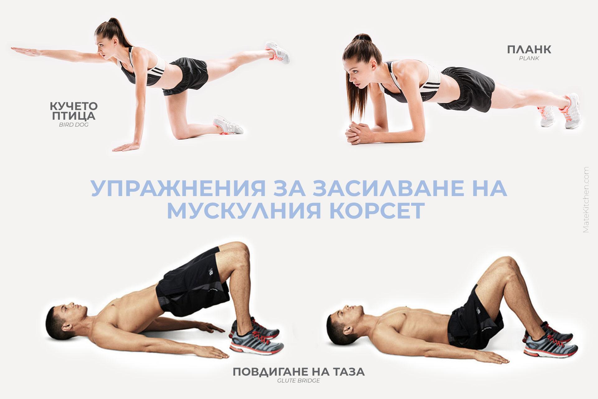 Упражнения за засилване на мускулния корсет