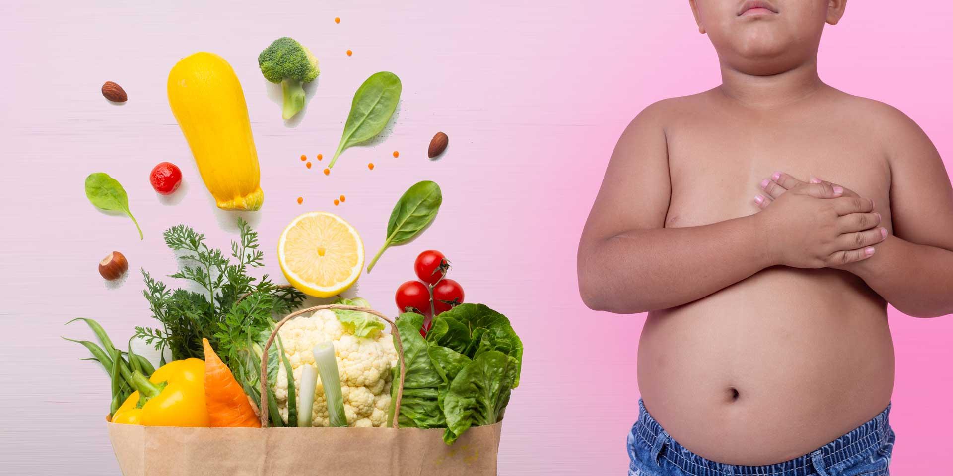 Здравословна храна и дете с наднормено тегло