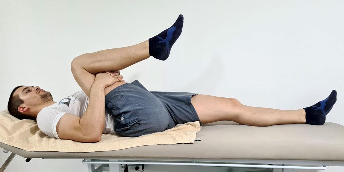 Упражнение за кръст със сгънат крак