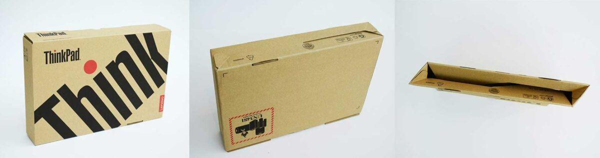 Самозаключваща се картонена опаковка на Lenovo
