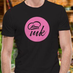 Черна тениска Mate Kitchen с щампа MK