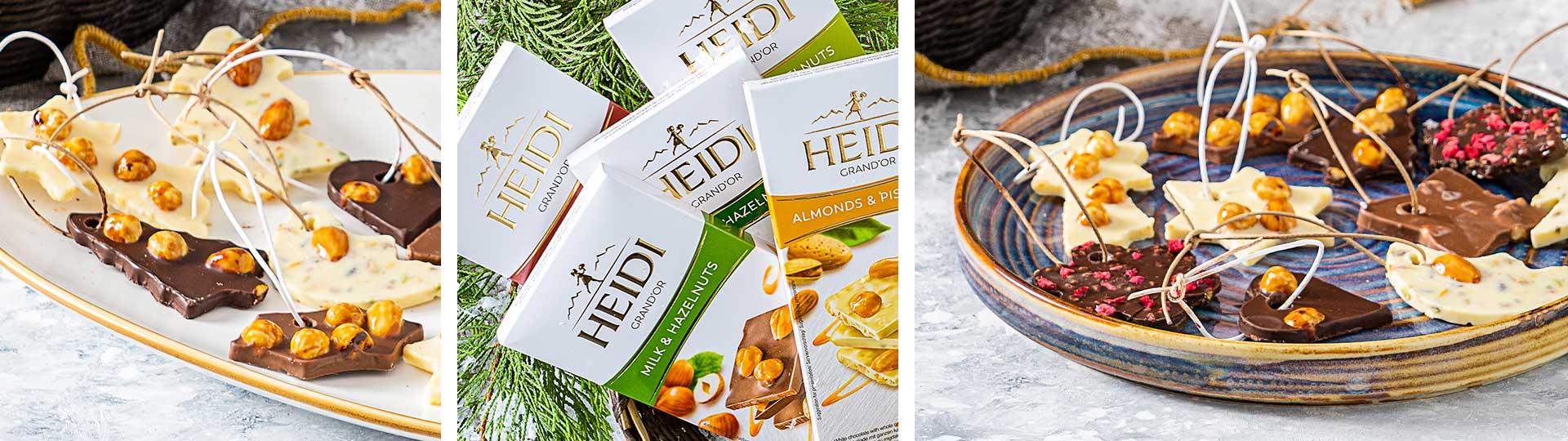 Шоколадови играчки за коледа с Heidi