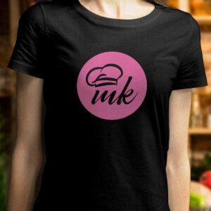 Черна дамска тениска Mate Kitchen с щампа MK