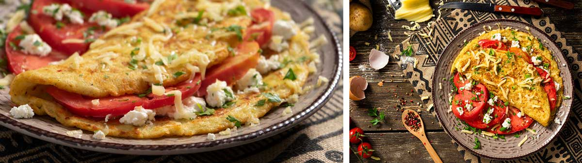 Рецепти с кашкавал: Омлет от картофи със сирене и кашкавал