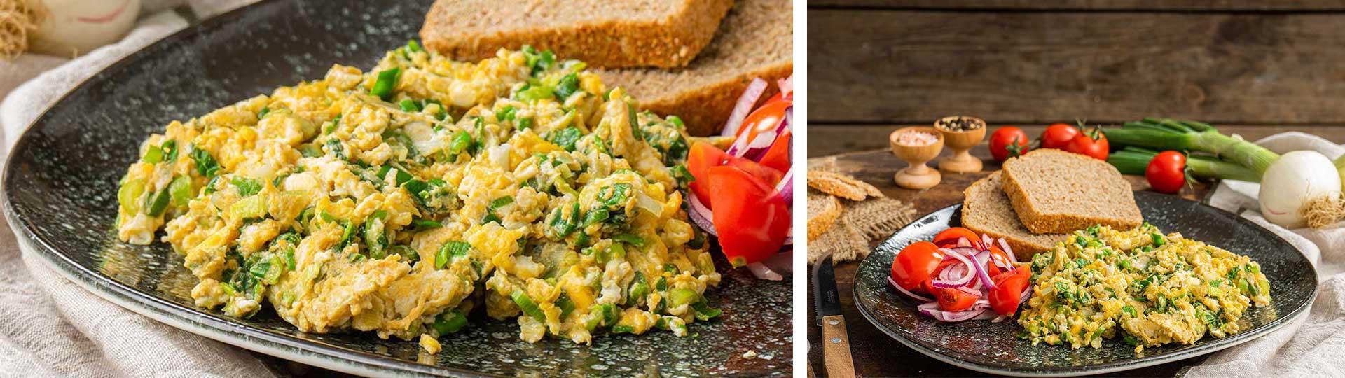 Рецепти с яйца: Бъркани яйца със зелен лук