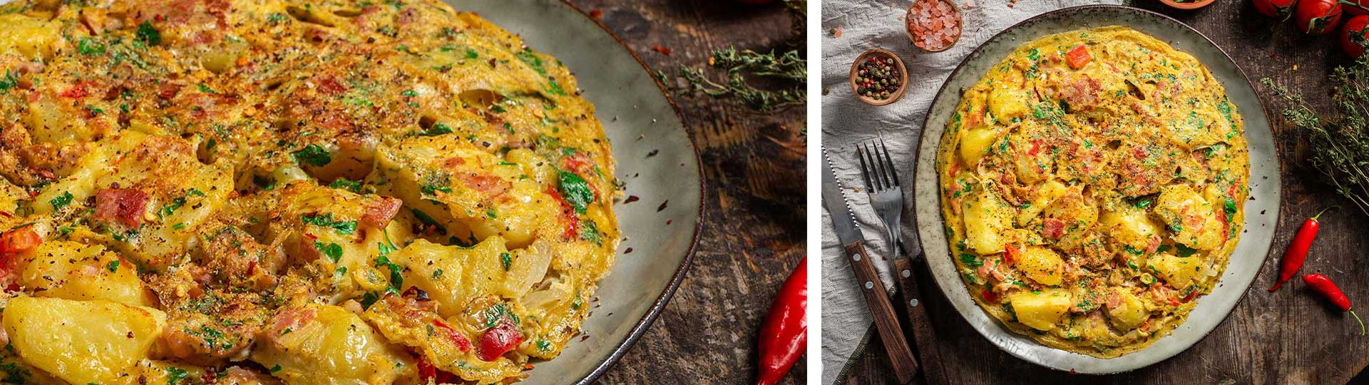 Рецепти с яйца: Омлет по селски