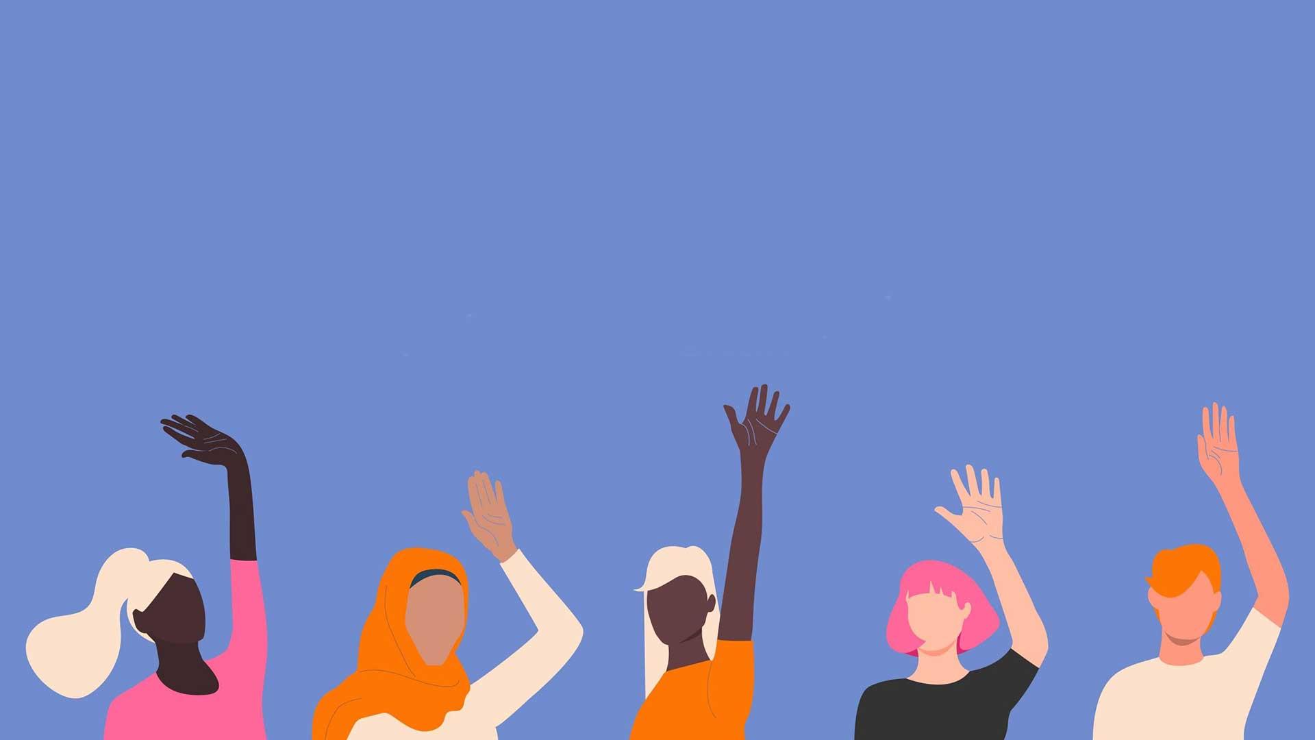 Илюстрация на 5 жени