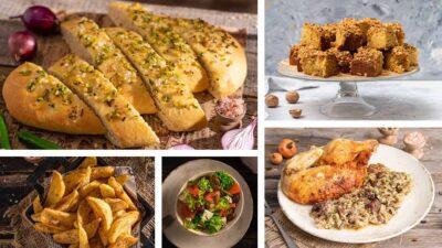 Колаж от 5 снимки с новите рецепти на Mate Kitchen